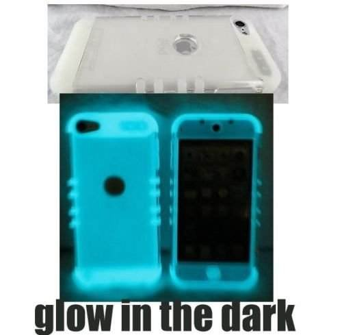 iPod Touch 5th 6th Gen Cover Case Transparent Clear Glow Shock Resistant Hybrid