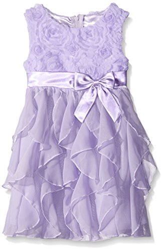 American Princess Big Girls' Sequin Corkscrew Dress, Lilac, 16