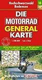 Motorrad Generalkarte Deutschland Hochschwarzwald, Bodensee 1:200 000