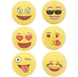 DALANG INC. Fun Golf Gift Yellow Emoji Golf Ball Universe: 2-Piece Professional Practice Golf Balls, 12 Emoji Balls