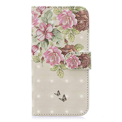 - Shinyzone Floral Series Phone Case for Samsung Galaxy S9,Premium Leather Book Wallet Flip Cover with Card Holder Cash Pocket with Wrist Strap Magnetic Viewing Stand-Flower Butterfly