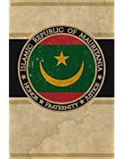 """Islamic Republic of Mauritania: Africa African Country Flag Mauritanian Cool Vintage Art Design Notebook Journal for Writing, Diary, Journaling, Note Taking with 100 Pages, 6"""" x 9"""" Cream Lined Paper, Book Birthday Gift Best for Adults"""