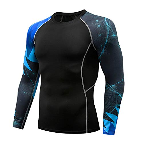 - Men's Long Sve T-Shirt Baselayer Cool Dry Compression Top Slim Fit Athletic Bodybuilding Fitness Tees