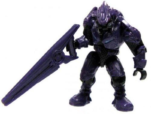 Halo Wars Mega Bloks LOOSE Mini Figure Covenant Purple Elite with Beam Rifle