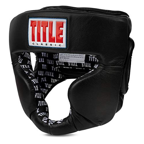 Title Boxing Classic Coverage Headgear 2.0, Black, Large