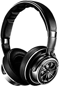 1MORE Triple Driver Over-Ear Headphones Comfortable Foldable Earphones with Hi-Res Hi-Fi Sound, Bass Driven, Tangle-Free Detachable Cable for Smartphones/Android/PC/Tablet - Silver/Titanium