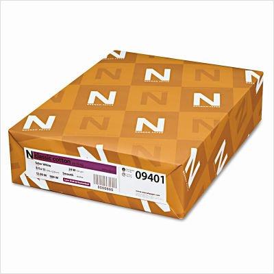 Neenah Paper 09401 Classic (25%) Cotton Wove Writing Paper, 8-1/2 x 11, 24-lb., 500 Sheets/ream