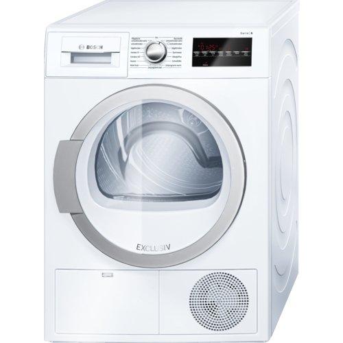 Bosch Serie 6 WTG86480 Libera installazione Carica frontale 9kg B Bianco asciugatrice