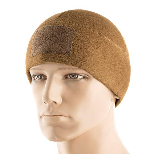 - M-Tac Tactical Beanie Fleece Watch Cap - Winter Hat Elite - Patch Panel (Coyote Brown, XL)