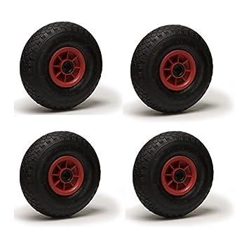 Jeune Lot de quatre roues gonflables pour chariot 3.00-4 (2PR) 260 x 85 FN-42