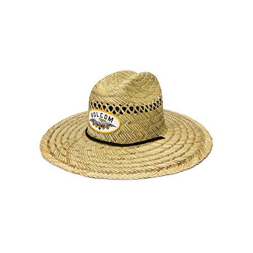 Volcom Men's Hellican Straw Lifeguard Beach Hat, Natural, Large/Extra (Volcom Garden)