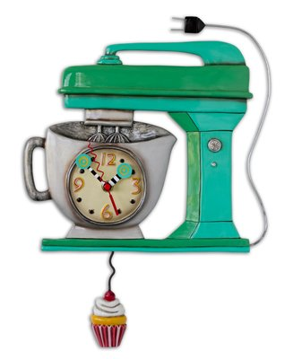 Vintage Mixer Green Clock Allen Designs