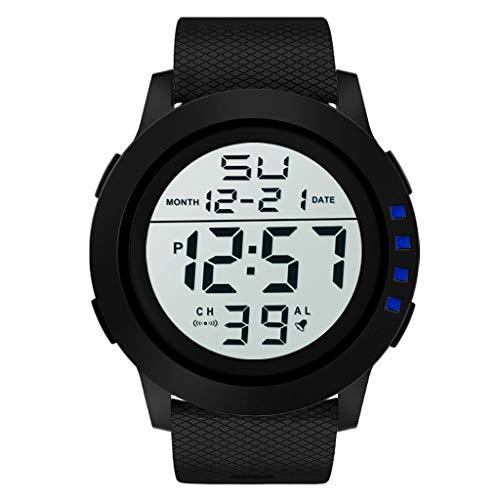 - Luxury Men Luminous Dial Watch Landsuy Analog Digital Military Sport LED Waterproof Wrist Watch(Blue)