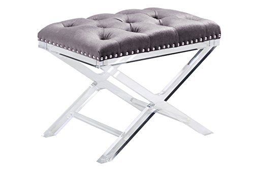 698043009113 - Sunpan Modern 100957 Allura Bench with Light Grey Fabric carousel main 0