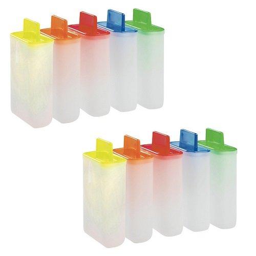 10 Eis am Stiel Formen / Stieleisformer aus Kunststoff