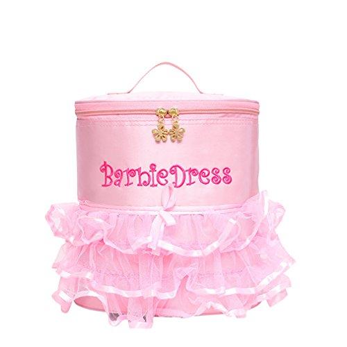 Dance Ballet Backpack Tutu Barbie Dance Bags Pink Children Girls Bag for School PD17 ()