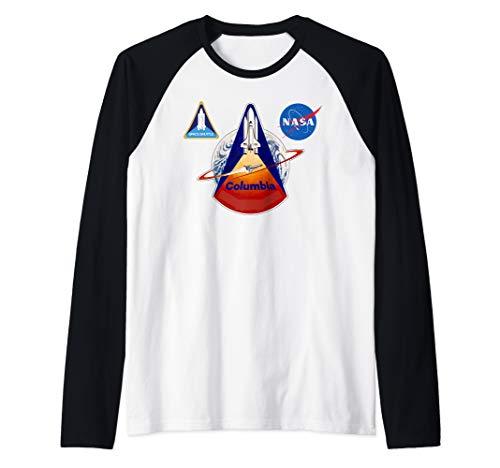 NASA Space Shuttle Columbia Retro  Raglan Baseball Tee