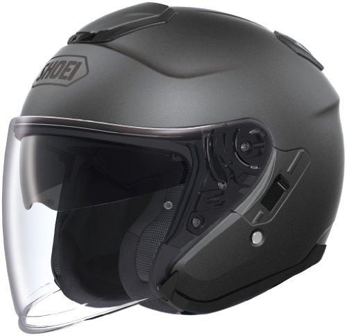 (Shoei Unisex Adult J-Cruise Open Face Matte Deep Gray Helmet 0130-0137-07)
