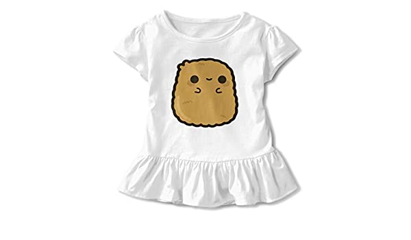 HYBDX9T Little Girls Adorable Capybara Funny Short Sleeve Cotton T Shirts Basic Tops Tee Clothes