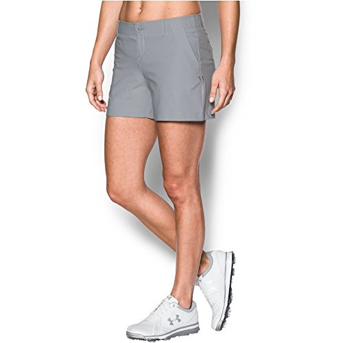 Under Armour Women's Links 4' Shorty, Overcast Gray/True Gray Heather, 0