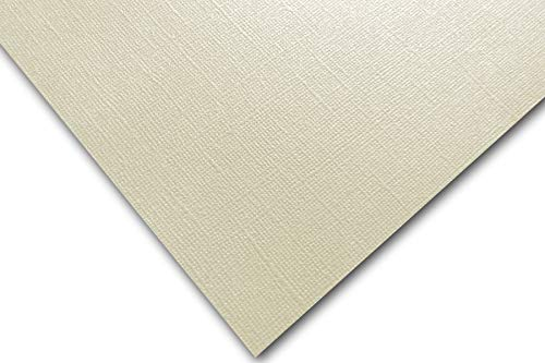 Premium Pearlized Metallic Textured Dove Ivory Card Stock 20 Sheets - Matches Martha Stewart Dove - Great for Scrapbooking, Crafts, Flat Cards, DIY Projects, Etc. (8.5 x 11) ()