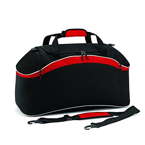 BagBase Teamwear–Bolsa Black/ Classic Red/ White