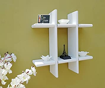 Onlineshoppee MDF Wall Decor Rack Shelf Wall Shelves