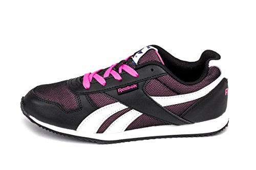 Reebok Royal CLJOGGER, Baskets Mode Unisex Kinder Schwarz - Noir (Black/White/Electro Pink)