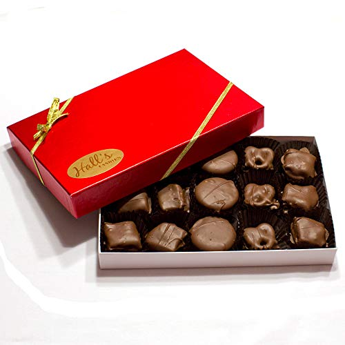 Hall's Assorted Milk Chocolate Holiday Extravaganza Gift Box, 12 oz. (Peanut Brittle Ounce 12)