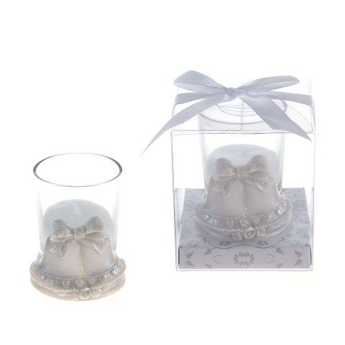 Lunaura Wedding Keepsake - Set of 12 Pair of Wedding Bells Candle Set Favors - ()