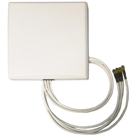 TerraWave 527504 MIMO Quad Patch Antenna, 6 dBi with RPSMA Plug Connector