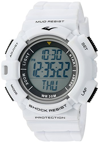 Everlast 'Heart Rate Monitor' Automatic Plastic and Rubber Fitness Watch, Color White (Model: ()