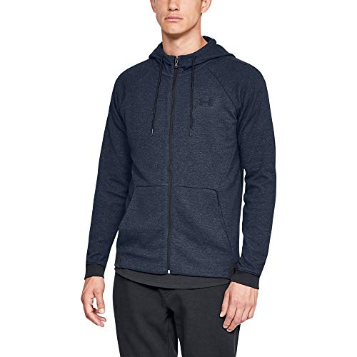 Under Armour Men's Unstoppable 2X Full Zip, Academy (408)/Black, Large (Lightweight Knit Activewear Zip)