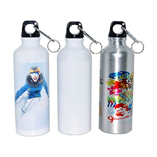 Ving 500ml Blank Aluminum Sports Bottle For Sublimation Printing, Dia 2.68''(White, 50pcs/carton)