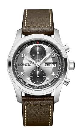 Hamilton Reloj Multiesfera para Hombre de Automático con Correa en Cuero H71566553: Amazon.es: Relojes