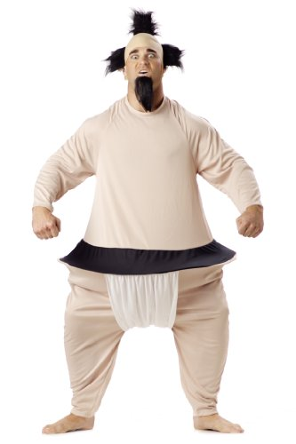 California Costumes Men's Sumo Wrestler Costume, Tan, One Size - Halloween Costumes Men Funny