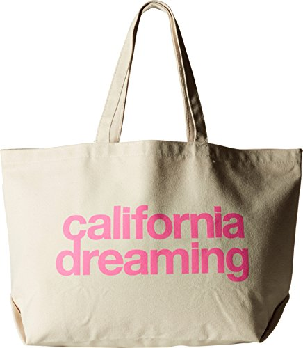 Dogeared Unisex California Dreaming Super Tote Pink/canvas Tote T20040
