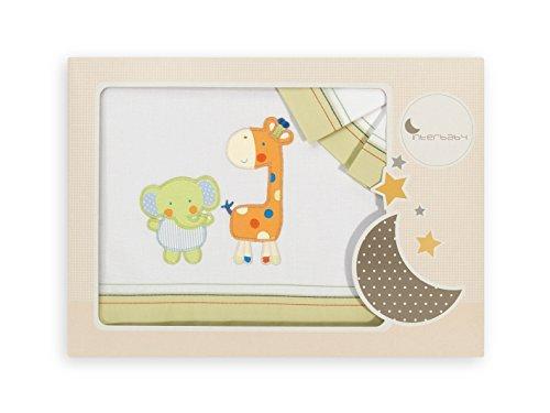INTER BEBÉ 04043-35 juego de cama para cuna - elefante de la MOD de la jirafa, 3 piezas, pistacho Interbaby ES