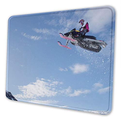 (Washable Mouse Pad - Snowmobile-jump-wallpaper-53618-55346-hd-wallpapers Non-Slip Gaming Mousepad - 7.9 X 9.5 in X 0.12''(3mm Thick)- Rectangle Rubber Mouse Mat for Computer/Laptop - 4 Size)