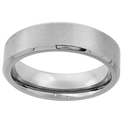 Titanium Wedding Beveled Brushed Comfort
