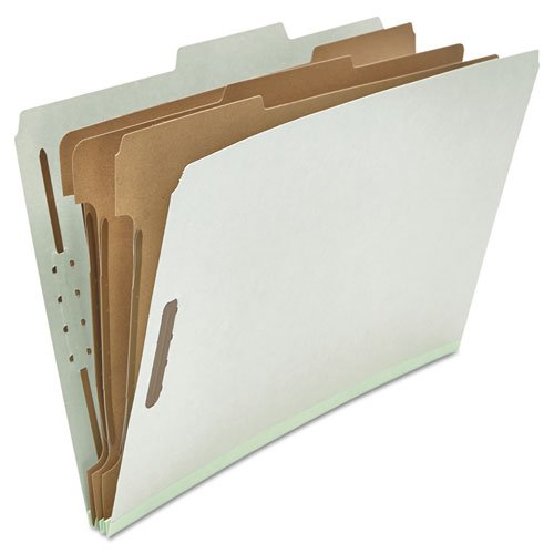 (Pressboard Classification Folder, Legal, Eight-Section, Gray, 10/Box)