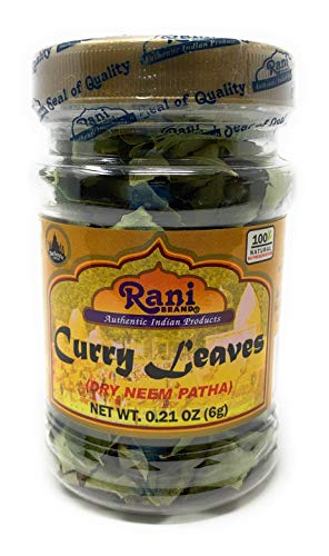 Rani Dried Curry Whole Leaves (Kari Neem Patha) Indian Spice 0.21oz (6g) ~ All Natural | Gluten Free Ingredients | NON-GMO