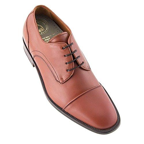 Masaltos Scarpe con Rialzo da Uomo Che Aumentano l'Altezza Fino a 7 cm. Fabbricate in Pelle. Modello Birmingham Marrone