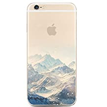 iPhone 6 Case,iPhone 6s Case, LUOLNH Blue Snow Mountain Painting Translucent TPU Case Cover For iPhone 6 6s (4.7 inch)