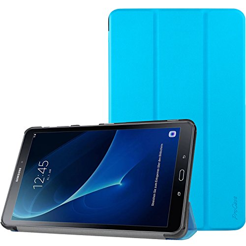 Samsung Galaxy Tab A 10.1 Case, ProCase Slim Smart Cover Stand Folio Case for Galaxy Tab A 10.1 Inch (2016 NO S Pen Version SM-T580 T585 T587) Tablet (Sky Blue)