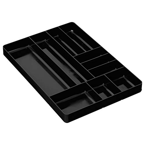 (Ernst Manufacturing Organizer Tray, 10-Compartments, Black)