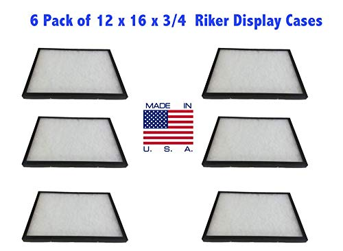Southern Star 6 Pack of Riker Display Cases 12 x 16 x 3/4 for Collectibles Jewelry & More
