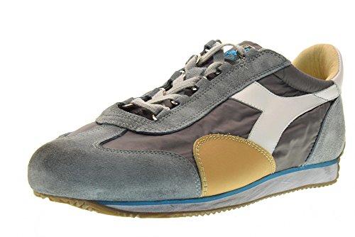 EQUIPE 157652 201 DIADORA WAXED uomo scarpe 01 sneakers SW C6699 Grigio NYL I110xH