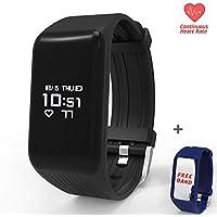 Lutecya Smart Heart Rate Bluetooth Activity Fitness Tracker Wristband