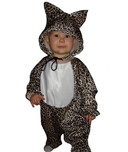 Fantasy World Leopard Halloween Costume f. Babies/Infants, Size: 9-12mths, To11
